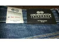 Brand new with tags crosshatch 34W L Jeans