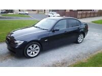 05 BMW 320 D,Full year MOT,Black leather interior ,Monaco Blue ,£2450 .