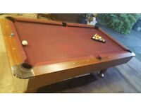 Pool Table inc 2 queues balls triangle