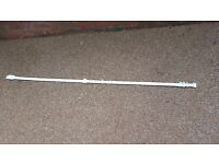 "White plastic curtain rail 70.5"" length"