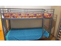 Ikea Metal Bunk Bed, almost brand new [Mattresses not included in price.]
