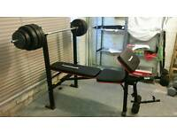Maxi muscle weight bench with 37.5kg of weights
