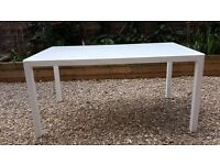 Modern 6-8 seat toughened glass and metal table 150x90cm