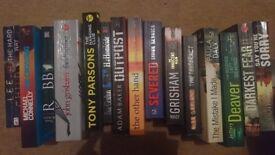 19 pre-owned crime/thriller fiction books. Job lot
