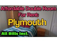 ⛄ Double Room For Rent ❄ No Deposit! Near Train Station & Plymouth City Centre