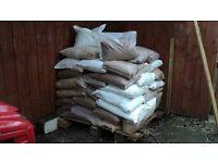 Pre bagged road salt/road grit. Approx.60 + Bags.