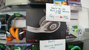 Beats Executive Over-Ear Headphones w/ box and cables - Silver