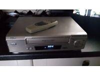 Sanyo Video Cassette Recorder VHR-H790E VHS Player & Remote