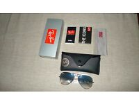 Ray-Ban Sunglasses Aviator 3025 001/3F Gold Blue Medium 58mm
