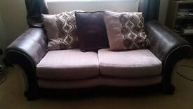 5 SEATER FABRIC CUSHION SOFA FOR SALE 3 + 2 DFS 2 YEARS INSURANCE REMAINING QUICK SALE BARGAIN