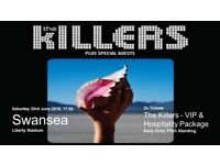The Killers 2 x VIP Early Entry Pitch Standing Tickets - Liberty Stadium Swansea Sat 23rd June 2018