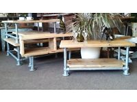 Job Lot 10 x Industrial Scaffold Coffee/SideTables - Reclaimed Timber - Bar/Cafe