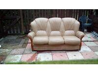 Granny flat 3 seater Sofa; Leather