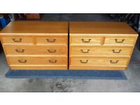 Matching pair of bedroom drawers made in elm by G-Plan.