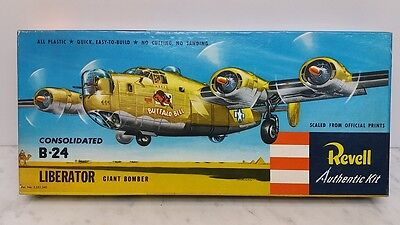 Revell H218 1:92 Scale Model Kit Consolidated B-24 Liberator 1950er OVP TOP