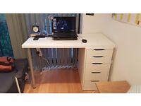 White Study Table (IKEA - ALEX/LINNMON)