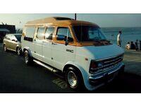 Customised dodge ram van.5.9 v8.custom paint job,wheels and side pipes.customised interior