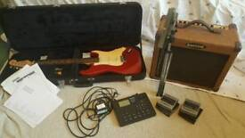 Guitar, Amplifier and more seen in pictures, pm for any enquires!