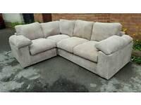 Fabulous BRAND NEW light beige coffee jumbo cord corner sofa .good quality.can deliver