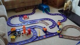 Happyland track - loads of it - plus tunnel, rolling stock, vehicles, buildings