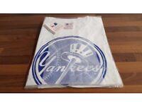 Small, Medium or Large | Men's White New York Yankees T-Shirt Majestic Athletic NY Baseball MLB Man