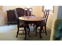 Mahogany Round Table and Chairs
