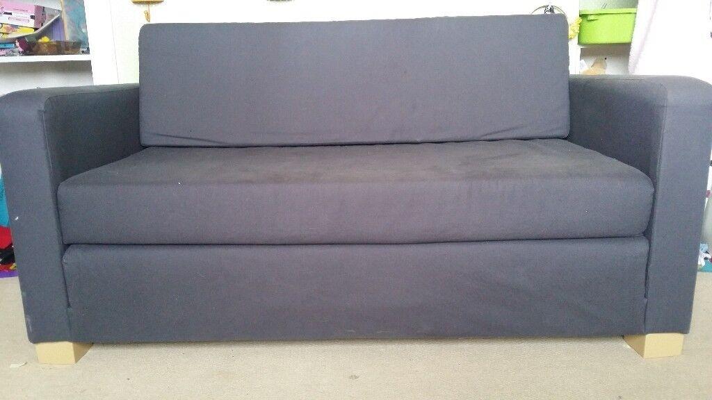 Ikea Sofa Bed Dark Grey Foam Futon Style