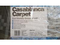 Casablanca Caravan Awning Tent Decking Breathable Carpet 2.5m X 6.5m White & Charcoal