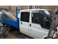 ford transit crewcab pickup taillift NOT tipper