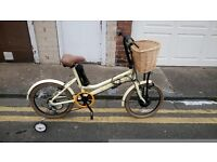 Viking E Vantage 20W Electric Bike - Vintage Cream/Brown