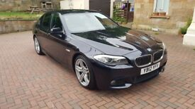 2012 BMW 5 SERIES 520D M SPORT BLACK AUTO £9K FACTORY EXTRAS