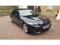 2012 BMW 5 SERIES 520D M SPORT BLACK AUTO £9K FACTORY EXTRAS