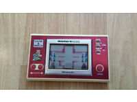Vintage, Retro, Collectible Nintendo GAME & WATCH MARIO'S Cement Factory 1983 W/Batteries