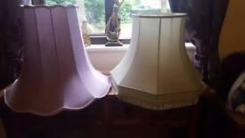 STANDARD LAMP SHADES - MINT GREEN & LILAC