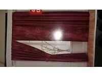 """Mostyns Curtains """"Benita"""" in Aubergine - 76"""" x 72"""" (193 x 183cm)"""