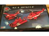 Mega blocks pro builder sea rescue helicopter