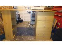 3 drawer desk - beech effect