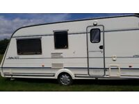 Compass - Rallye 490 / 4 L GTE - 4 berth touring caravan for sale with awning and annex bedroom.