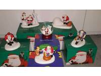 6X Coalport Characters (Raymond Briggs Father Christmas & The Snowman)