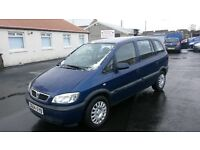 2004 vauxhall zafira 7 seater cheaper px welcome £295 MOT JUST EXPIRED