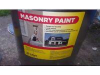 Masonry paint grey 20l new