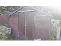 Shed 10ft x 8ft with windows and double doors