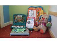 Fantastic toy bundle - Go Diego Vtech Laptop activity toys, Puppy laugh n learn