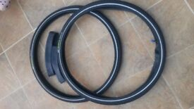 Two new bicycle tyres with inner tubes. CST Selecta Kevlar 26 x 1.75