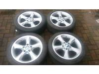 GENUINE BMW 17 INCH ALLOY WHEELS 5X120 1 SERIES 3 SERIES VIVARO TRAFIC 116 118 120I D SPORT M