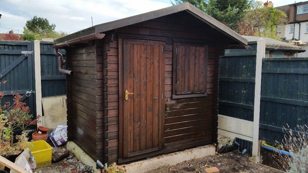 garden shed log cabin style