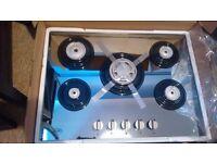 Brand new Necht AGCG7052 gas hob 70 cm,5 burner gas hob mirror glass