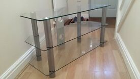 Glass 2 tier TV stand