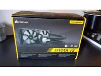 Corsair H100i v2 All in one cpu cooler, great condition, Used but only for 3 months.