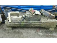 2 Yorkshire stone gate posts and head